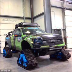 Shut up and take my money. Ford Raptor on Trax Jacked Up Trucks, Diesel Trucks, Custom Trucks, Cool Trucks, Chevy Trucks, Pickup Trucks, Cool Cars, Dodge Diesel, Dually Trucks