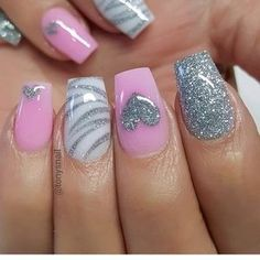 Both long nails and short nails can be fashionable and beautiful by artists. Short coffin nail art designs are something you must choose to try. They are one of the most popular nail art designs. Today, in this article, we have collected 40 stylish Fancy Nails, Diy Nails, Cute Nails, Perfect Nails, Gorgeous Nails, Valentine's Day Nail Designs, Nails Design, Awesome Nail Designs, Heart Nail Designs