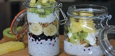 Matheas lunsjglass – Berit Nordstrand Acai Bowl, Smoothies, Dairy Free, Oatmeal, Granola, Food And Drink, Healthy Eating, Low Carb, Cooking Recipes