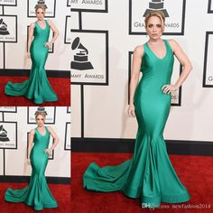 57th Grammy 2015 Celebrity Red Carpet Dresses Cara Quici Elegant Halter Sleeveless Floor Length Mermaid Formal Evening Gowns Prom Dress from Newfashion2014,$135.93 | DHgate.com