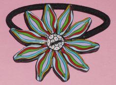 """Haargummis - Haargummi """"Bunte Blüte"""" - ein Designerstück von iCo-Design bei DaWanda"""