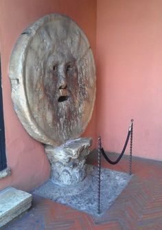 "Bocca Della Verità, or in English ""The Mouth of Truth"" is a circular marble sculpture located in the portico of the Paleochristian church of Santa Maria Vista Garden, Kids Lying, Marble Wallpaper Phone, Lucas Cranach, The Empress, Marble Texture, Renaissance Art, Roman, Sculpture"