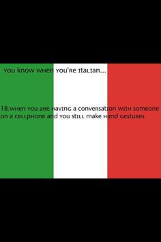 Lol I do that and I'm one third Italian. Comment, like, and follow me if you do this too.