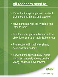 Principals: Are you supporting your teachers?