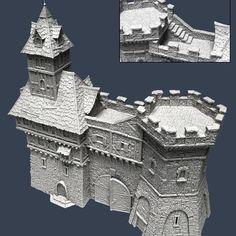 Explore Ivan Tomasko& photos on Photobucket. Medieval Houses, Medieval Castle, Medieval Fantasy, History Medieval, Medieval Times, Ancient History, Cardboard Box Crafts, Cardboard Castle, Lego Castle