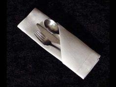 Como doblar una Servilleta de papel para una fiesta* FACIL Y RAPIDO!!!!!!