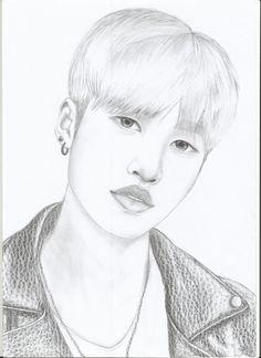 #korean #model #draw my work