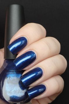 nicole by OPI - listen to your momager. pretty blue color.