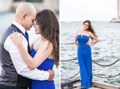 At the bay engagement session in Miami by Orth Photography.  Engagement photos at Bayside.  Bride to be portrait!