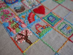 Doodle squares - by One Crafty Mumma