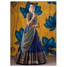 Party Wear Indian Dresses, Indian Gowns Dresses, Indian Bridal Outfits, Dress Indian Style, Indian Fashion Dresses, Indian Wear, Wedding Dresses, Half Saree Lehenga, Lehenga Saree Design