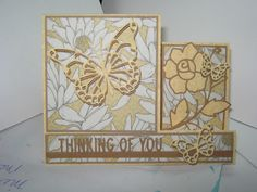 One view of a step card made by Sharon Frees.  I used Recollections paper & MB dies & IO word die.