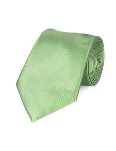 Men's Plain Green Ottoman 100% Silk Tie