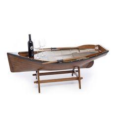 Table barque | Cette réplique de canot se transforme en une table basse originale et au style incomparable | A retrouver sur : http://www.chasse-maree.com/mobilier-de-marine/2960-table-canot.html