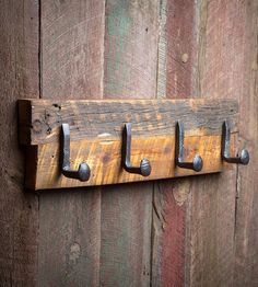Large Reclaimed Wood & Railroad Spike Rack by Shane Reclaim & Design on Scoutmob More