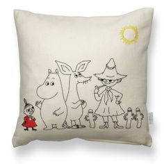 Embroidery pillow kit moomintroll little my snufkin sniff