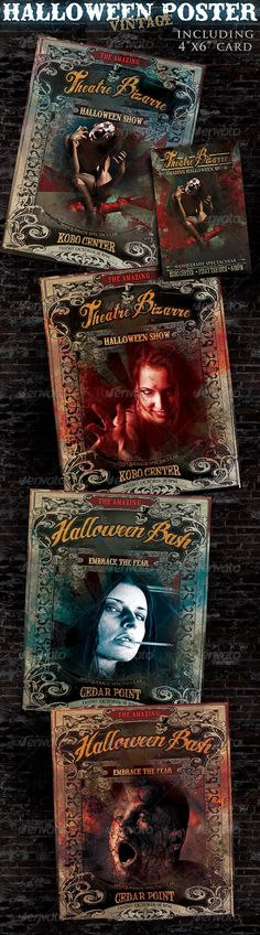 Halloween Poster — Photoshop PSD #horror #scary card • Available here → https://graphicriver.net/item/halloween-poster/3163963?ref=pxcr