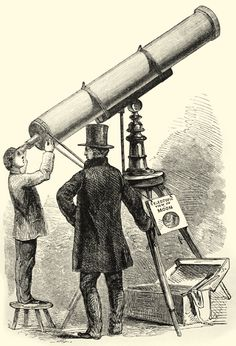 London street exhibitor demonstrating the properties of a telescope. Victorian London, London Street, Telescope, Light Up, Life