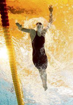 03.08 La jeune Américaine Katie Ledecky a battu son 8e record du monde en améliorant sa propre marque sur 1500 m nage libre dames en 15'27''71 en séries des Mondiaux à Kazan (Russie).Photo: Michael Dalder