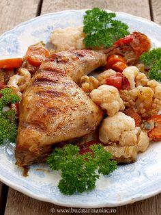 Chicken Stew with Cauliflower. Chicken stew with cauliflower (in Romanian)