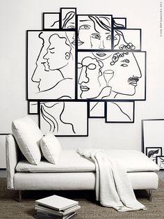 Låt tavelfantasten i dig skapa ett konstverk där svarta konturer låter bilderna komma till sin rätt och du kan stolt luta dig tillbaka bland rektanglar, kvadrater och räta vinklar!