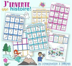 Discover recipes, home ideas, style inspiration and other ideas to try. 3 Year Old Activities, Morning Activities, French Teaching Resources, Teaching French, Gs Logo, French Fairy Tales, Story Cubes, Alternative Education, Learning Games For Kids
