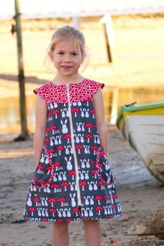 """Sewing For Kids Clothes Pattern """"Zip-It"""" Girl's Dress Pattern by Make It Perfect - Kids Clothes Patterns, Childrens Sewing Patterns, Sewing For Kids, Clothing Patterns, Clothing Ideas, Funky Fashion, Kids Fashion, Women's Fashion, Kid Outfits"""