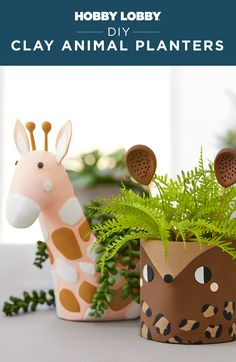 The possibilities are endless when you have polymer clay and a touch of creativity! Find supplies and ideas to help you create your own animal planters at your local Hobby Lobby®.