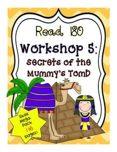 This mega pack includes 89 pages of games and activities that match with Read 180 Workshop 5: Secrets of the Mummies Tomb. This product includes a Table of Contents Page, a Workshop 5 Pretest, Problem and Solution Task Cards, Problem and Solution Pyramid Race Game, Hieroglyphic Homophones Matching Memory Game, Which Homophone?