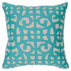Kosas Home Barrett Teal Throw Pillow - PL91422