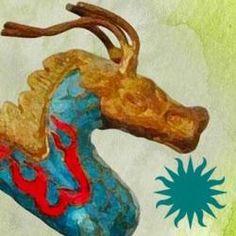 When the Moon Is Low by Nadia Hashimi Khaled Hosseini, Moose Art, Dragon, Moon, Asian, Christmas Ornaments, American, Shell, Pearl