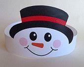 Snowman Paper Crown - Printable
