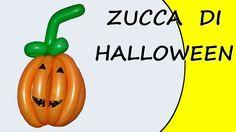 Video tutorial on how to make a Halloween pumpkin with balloons modeled. #Halloween #pumpkin