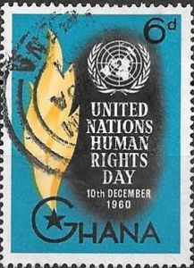 Sello: Torch (Ghana) (Day of Human Rights) Mi:GH 92,Yt:GH 83