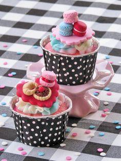 Paris Patisserie Fondant Cupcake Toppers