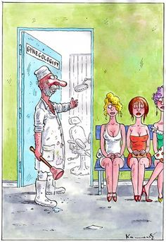TOONPOOL Cartoons - Gynecologist by marian kamensky, tagged humor - Category Love - rated / Cool Pictures, Funny Pictures, Gary Larson, Funny Picture Jokes, Celebrity Caricatures, Humor, Alice In Wonderland, Card Games, Cartoon