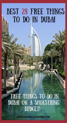 33 Incredible FREE Things To Do In Dubai To Save Money - Global Gadding - Best FREE Dubai Experiences For A Shoestring Budget are easy to find and fun. Free things to do in Dubai help stretch your budget. Check the list out now! Dubai Things To Do, Free Things To Do, Dubai Nightlife, Nightlife Travel, Dubai Hotel, Dubai City, Dubai Uae, Places To Travel, Places To See