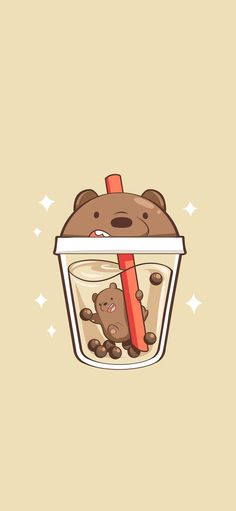 We bare bears grizzly milk tea