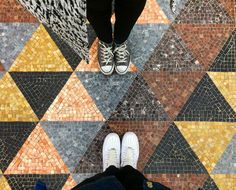 Checking floors around #Milano w/ @insta_nazz / #fromwhereistand  _______________________  #ihavethisthingwithfloors #ihaveathingwithfloors #ihaveathingforfloors #ihavethisthingfortiles #ihavethisthingwithtiles #iamafloor #floor #floors #tiles #tile #tiledfloor #tiledfloors #shoes #decoration #design #interiordesign #geometry #geometric #lines #club #feet #details #foot #mosaic #travelgram #artbeneathourfeet #sneakers
