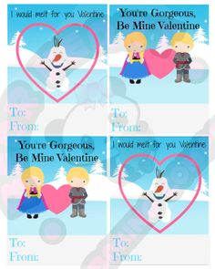 Valentine's Day Cards Printable Instant by BearHeartBakingCo, $3.75