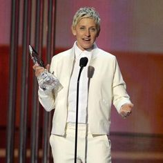 Ellen DeGeneres presents the award for favorite TV icon at the People's Choice Awards at the Nokia Theatre on Wednesday, Jan. 7, 2015, in Los Angeles. (Photo by Chris Pizzello/Invision/AP) Credit Chris Pizzello/Invision/AP