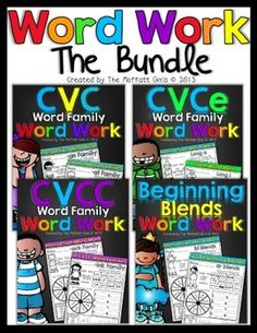Word Work Bundle! Wow lots of great stuff here. :) $