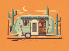 """See our full blog post here  The latest addition to the DKNG line of art prints is here! The Explorers Club celebrates """"homes for those who roam"""" with three of our favorite classic camping vehicles..."""