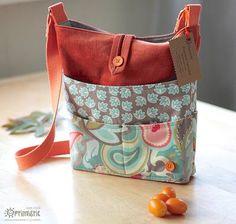 ¡Cómo coser una bolsa con muchos bolsillos! {patrón de costura libre - Parte 1}