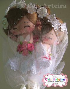 Felt Dolls, Bride Groom