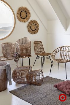 Weave rattan into your home intererior for a rustic yet stylish look.