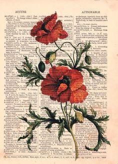 Dictionary Art - Flower