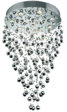 "Bernadette - Hanging Fixture (8 Light Contemporary Hanging Crystal Chandelier) - 6895D24   ➤ Dimensions: W/D 24"" x H 36"""
