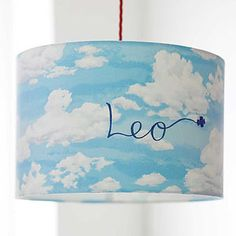 Clouds Lampshade - children's room accessories