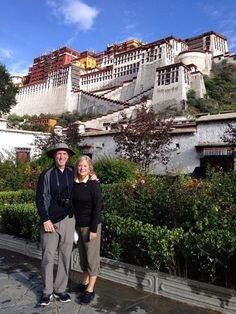 Who and where • Jim and Jil Lich of Chesterfield at the Potala Palace in Lhasa, Tibet.